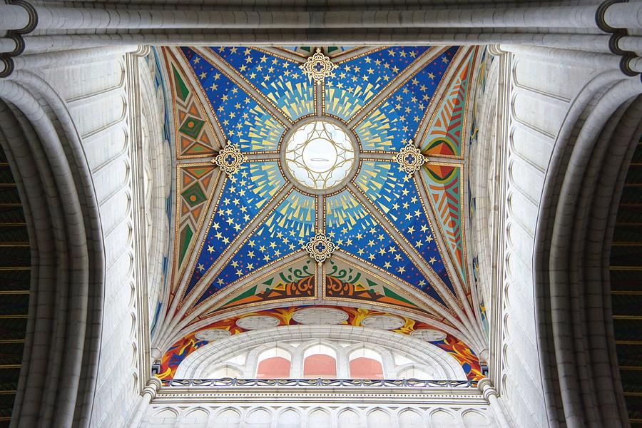Madrid Photograph - Almudena Cathedral Interior by Jenny Hudson