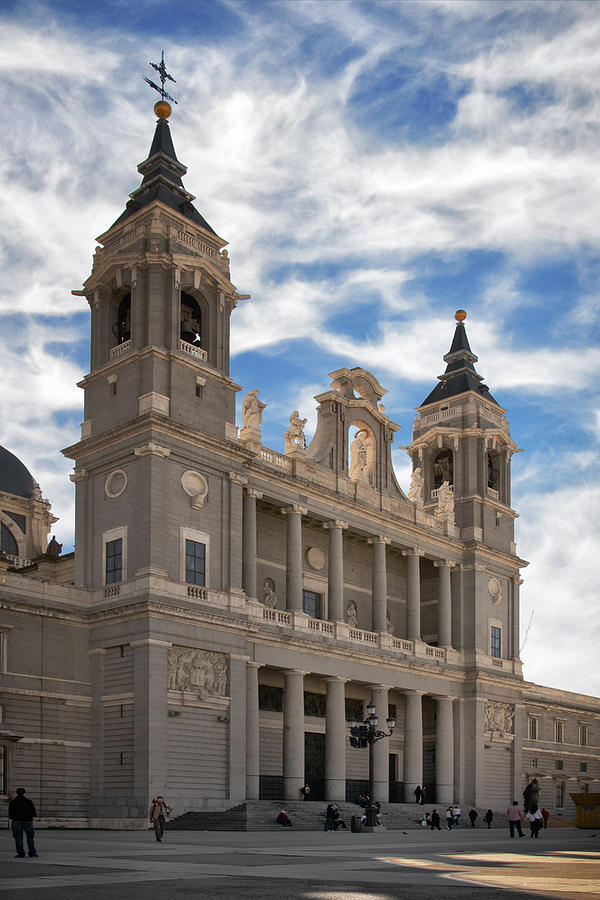 Architecture Photograph - Almudena Cathedral by Joan Carroll