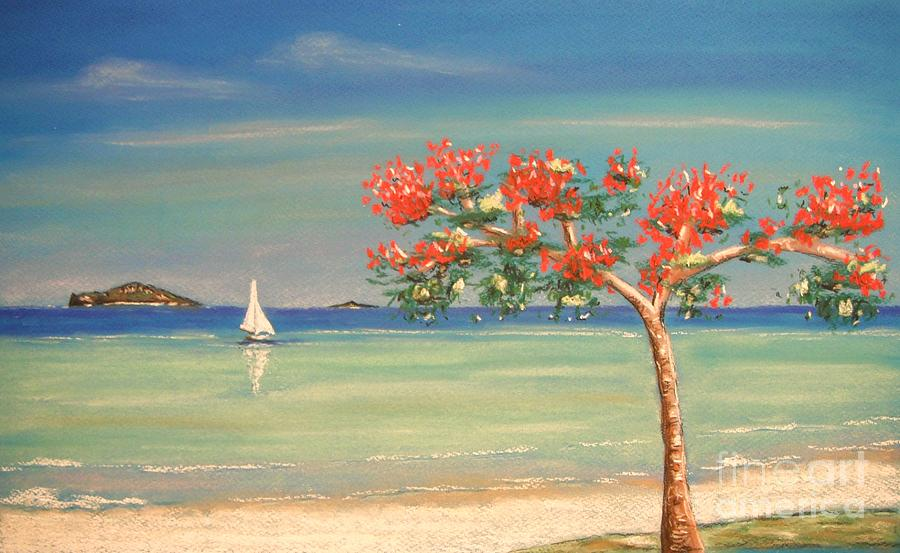 Tropical Painting - Aloha by The Beach  Dreamer