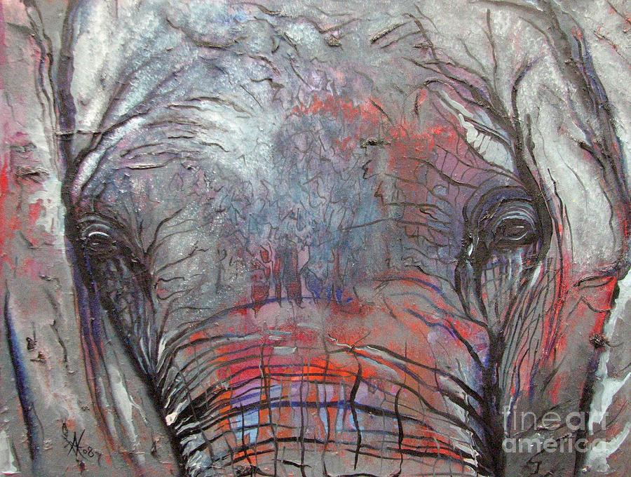 Elephant Painting - Alone by Aimee Vance