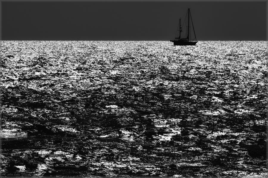 Sailboat Photograph - Alone At Sea by Erika Fawcett