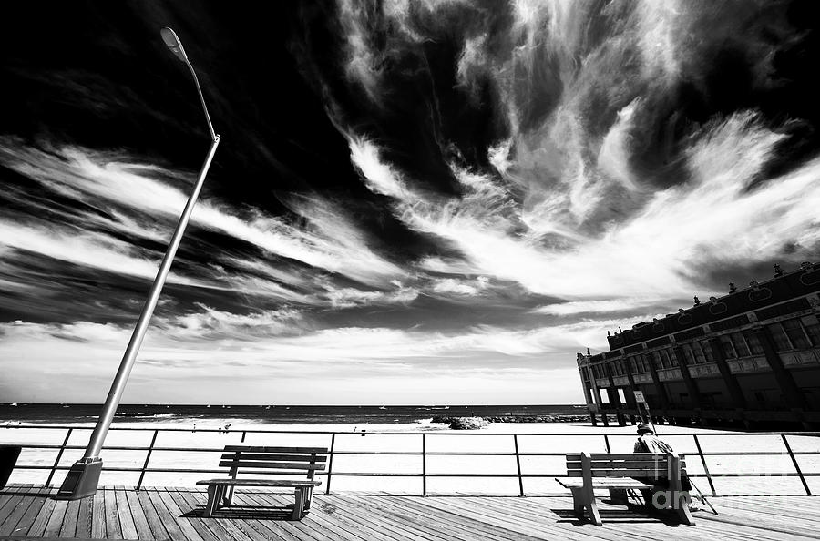 Asbury Park Photograph - Alone In Asbury Park by John Rizzuto