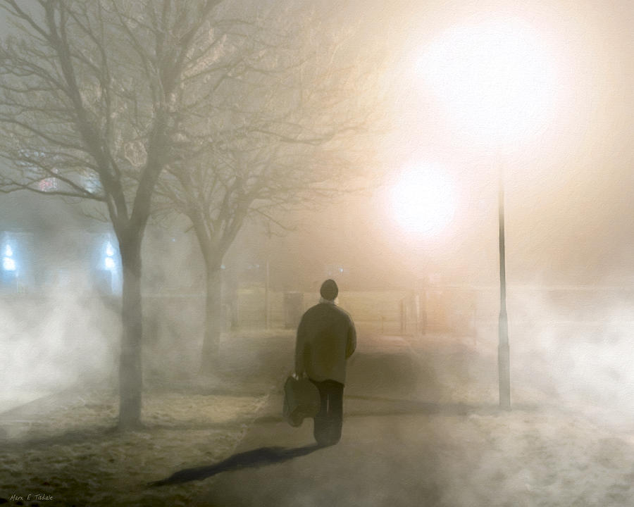 Galway Photograph - Alone In The Fog In Galway by Mark E Tisdale
