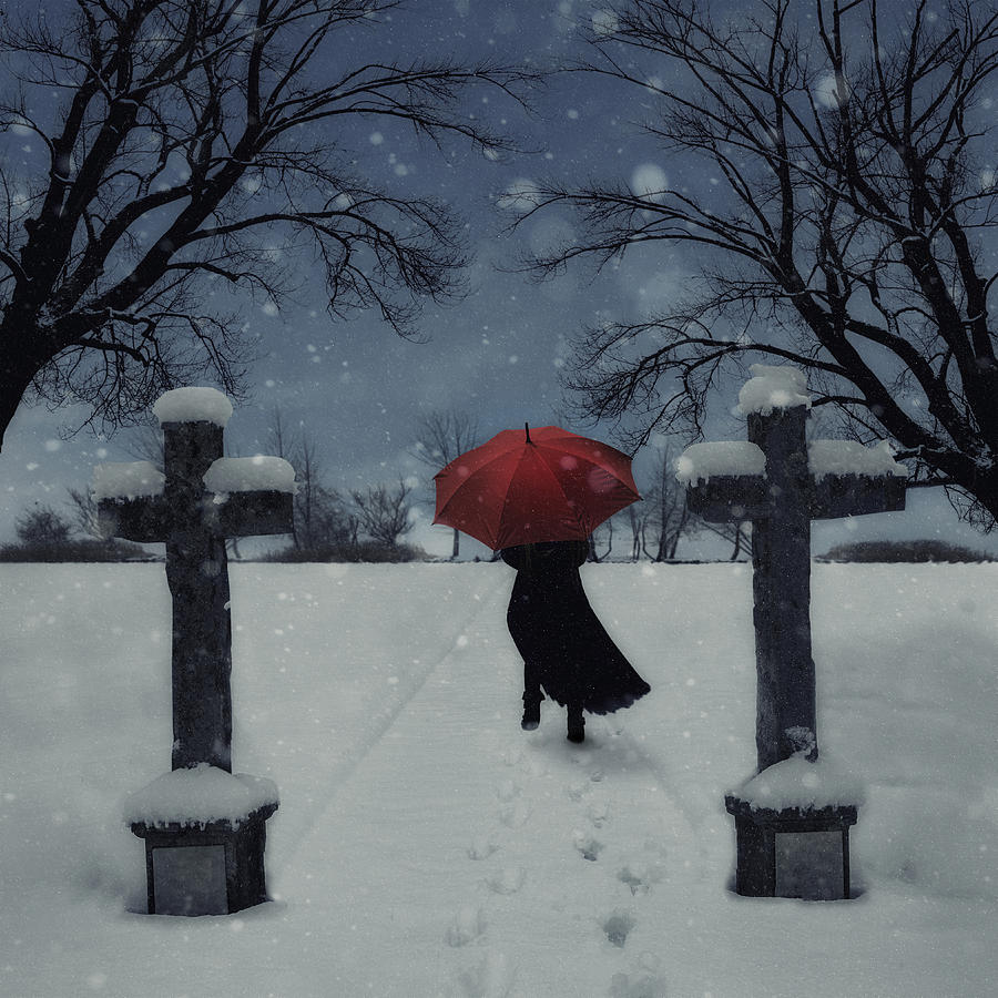 Woman Photograph - Alone In The Snow by Joana Kruse