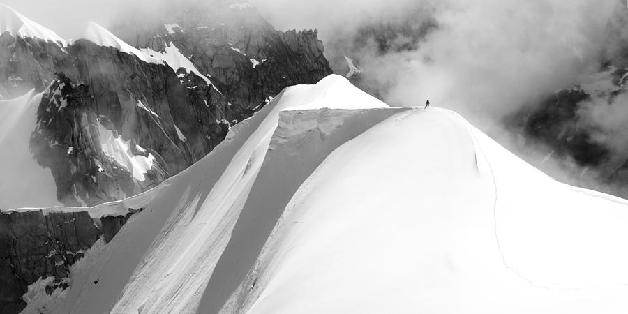 Chamonix Photograph - Alone by Matej Sokol