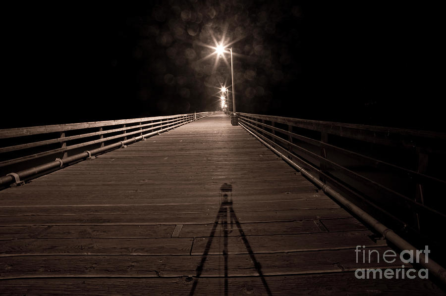 Pier Photograph - Alone On The Pier by Ron Hoggard