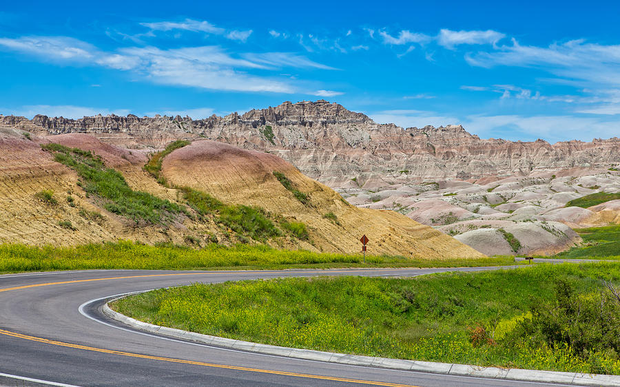 Along the Badlands Tour Loop by John M Bailey