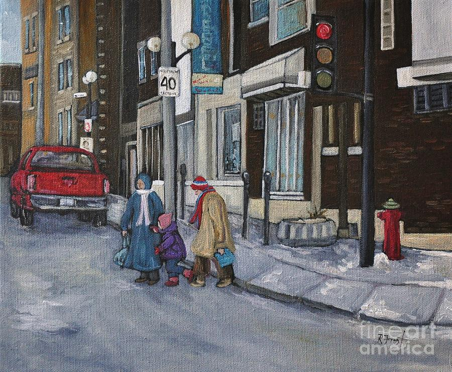 Montreal Painting - Along The Boulevard by Reb Frost