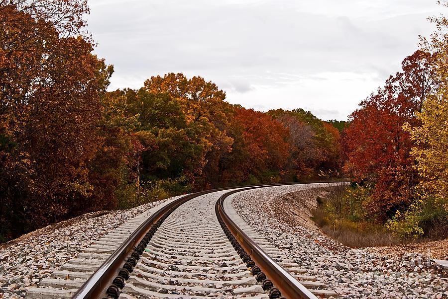Julie Clements Photograph - Along The Rails by Julie Clements