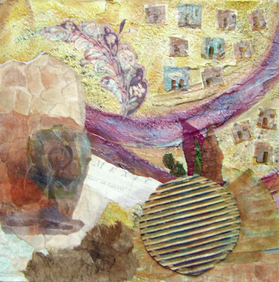 Collage Mixed Media - Along The Rio Grande by MtnWoman Silver