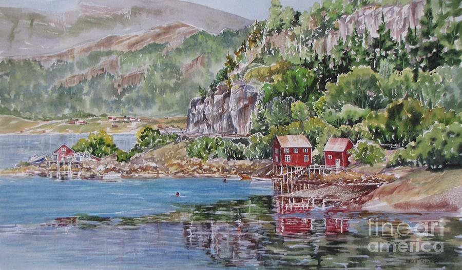 Norway Painting - Along_the_coast_of_norway by Nancy Newman