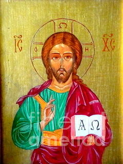 Jesus Christ Painting - Alpha And Omega by Irene Rejevsky