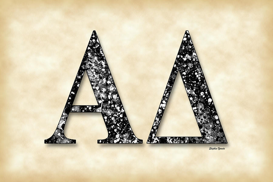 Alpha Delta Digital Art - Alpha Delta - Parchment by Stephen Younts