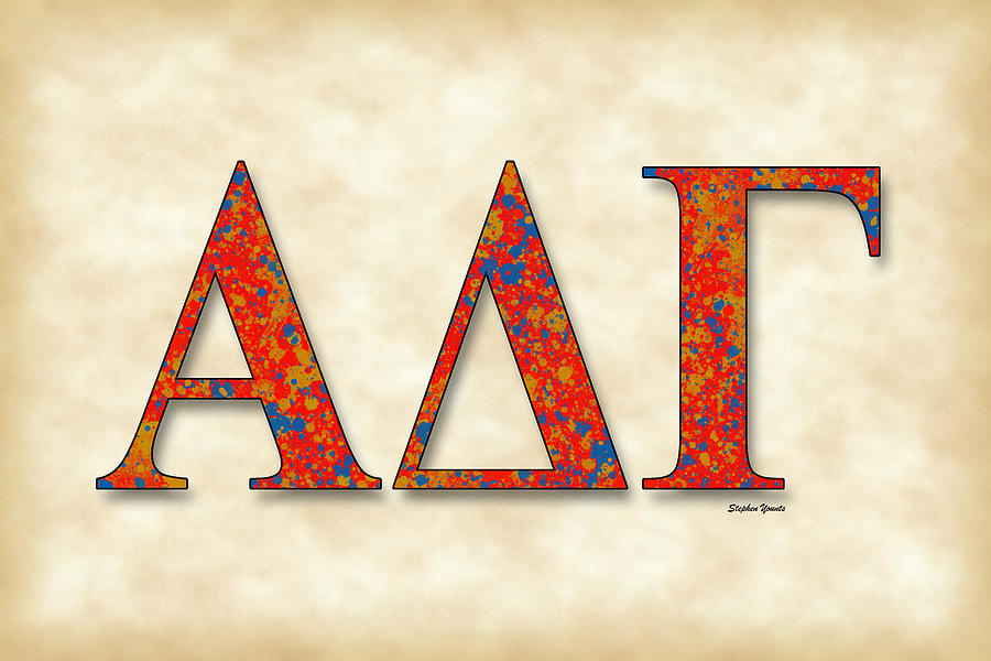 Alpha Delta Gamma Digital Art - Alpha Delta Gamma - Parchment by Stephen Younts