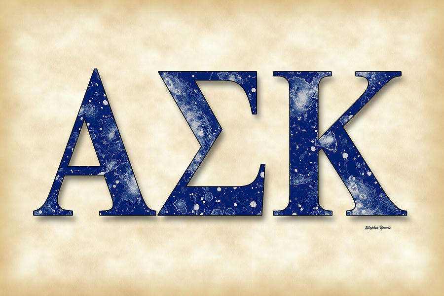 Alpha Sigma Kappa Parchment Digital Art By Stephen Younts