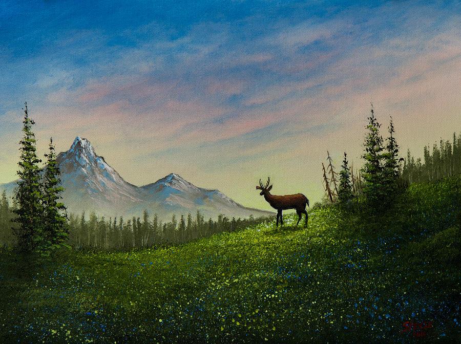 Landscape Painting - Alpine Beauty by C Steele