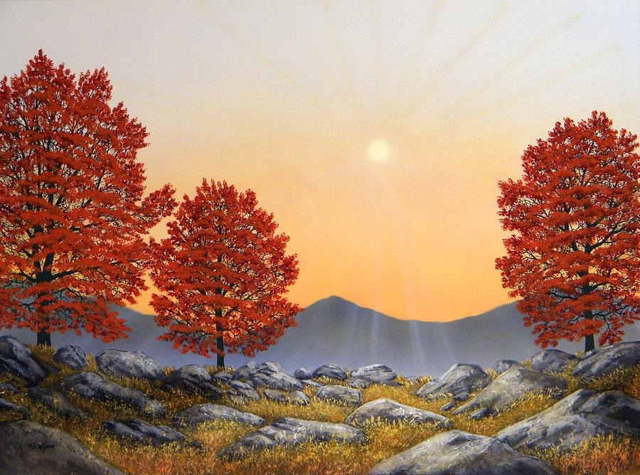 Alpine Meadow II Painting