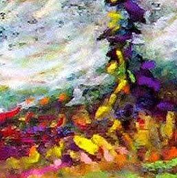 Alpine Meadow Study 1 Pastel by Georges St Pierre
