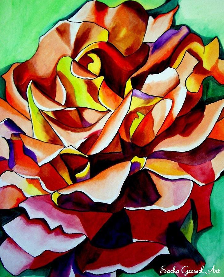 Rainbow Flower Painting - Alpine Sunset by Sacha Grossel