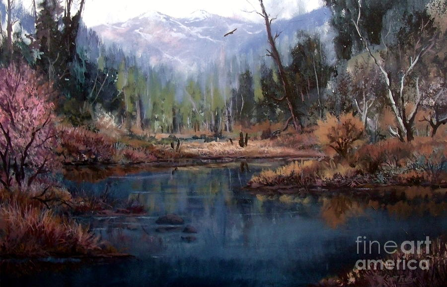 Nature Painting - Alpine Wonder by W  Scott Fenton
