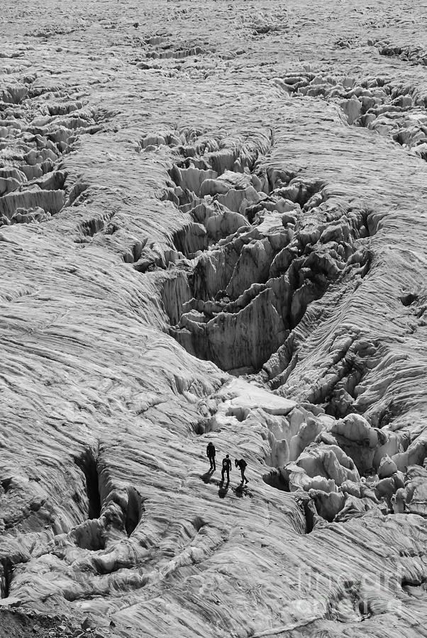 Glacier Photograph - Alpinists On Glacier by Camilla Brattemark