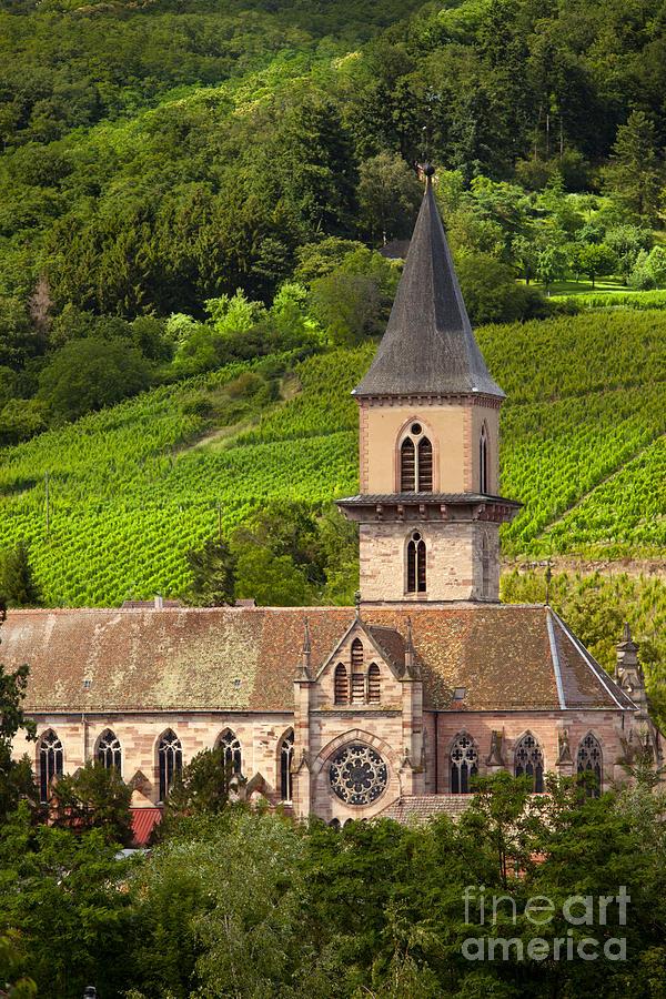 Ribeauville Photograph - Alsace Church by Brian Jannsen