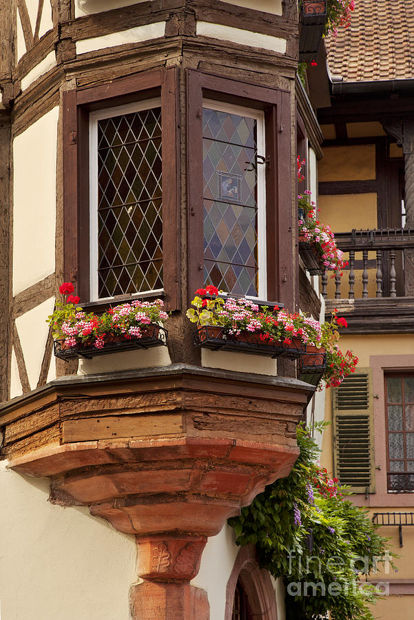 Kaysersberg Photograph - Alsace Window by Brian Jannsen