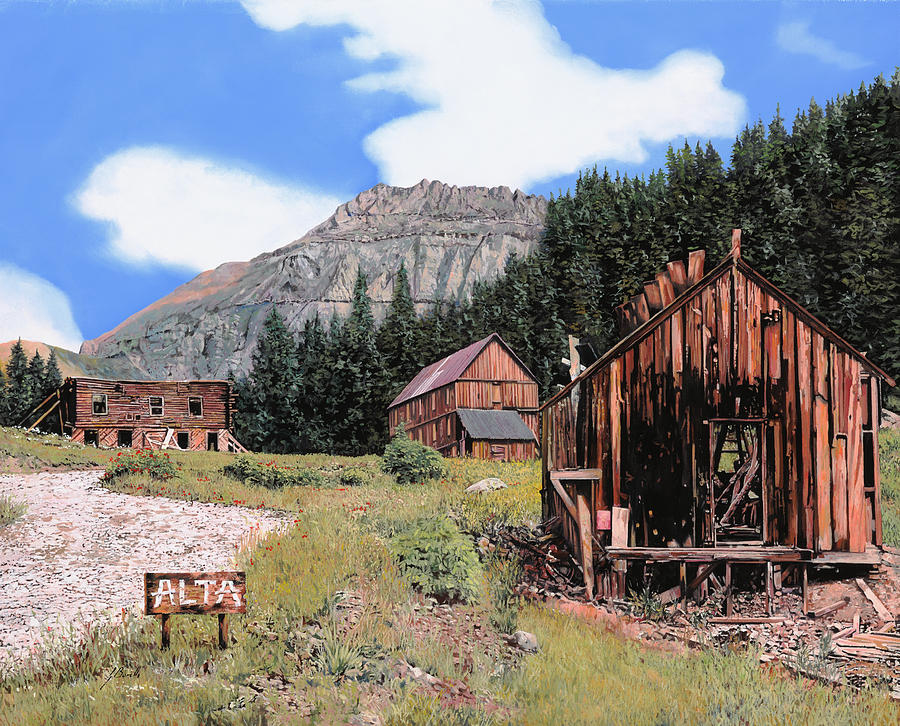 Ghost Town Painting - Alta In Colorado by Guido Borelli