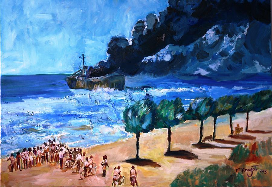 Israel Painting - Altalena by Marwan  Khayat
