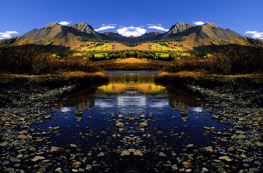 Mountains Photograph - Altered reality by Mike  Bennett