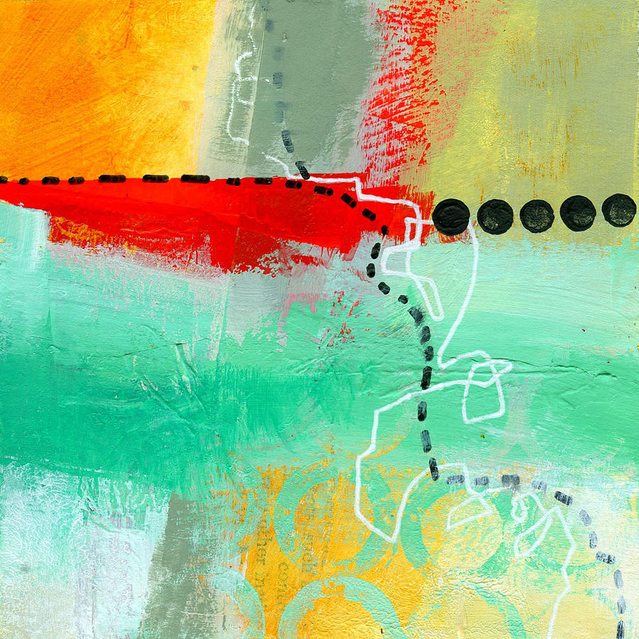 Abstract Painting - Alternate Route 56 by Jane Davies