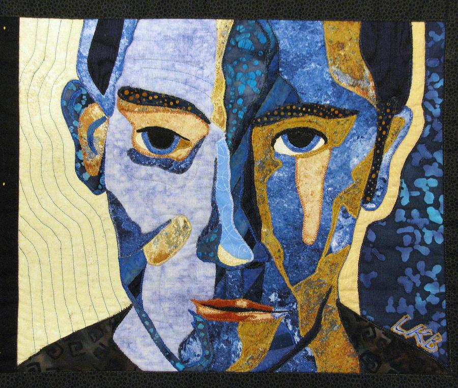 Mixed Media Tapestry - Textile - Alternate Universe Dark by Lynda K Boardman