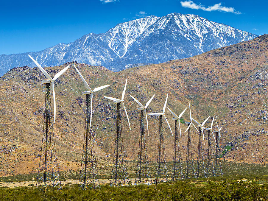 Wind Photograph - Alternative Power Wind Turbines by Susan Schmitz
