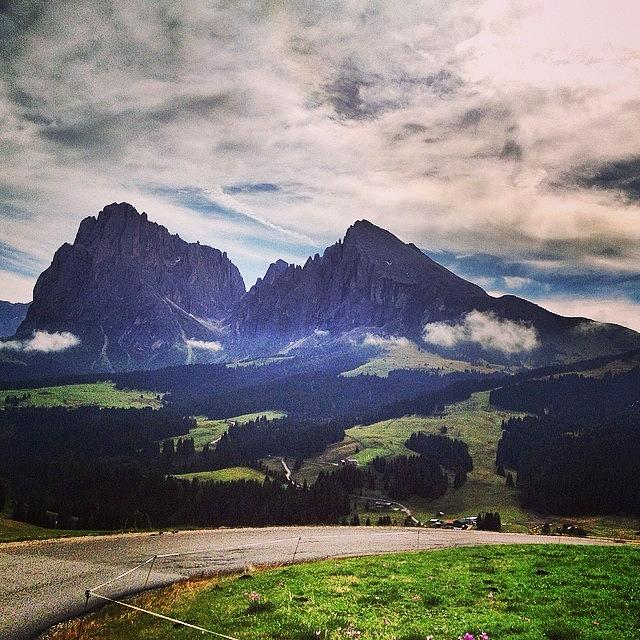 Mountain Photograph - #altoadige #südtirol #alpedisiusi by Luisa Azzolini