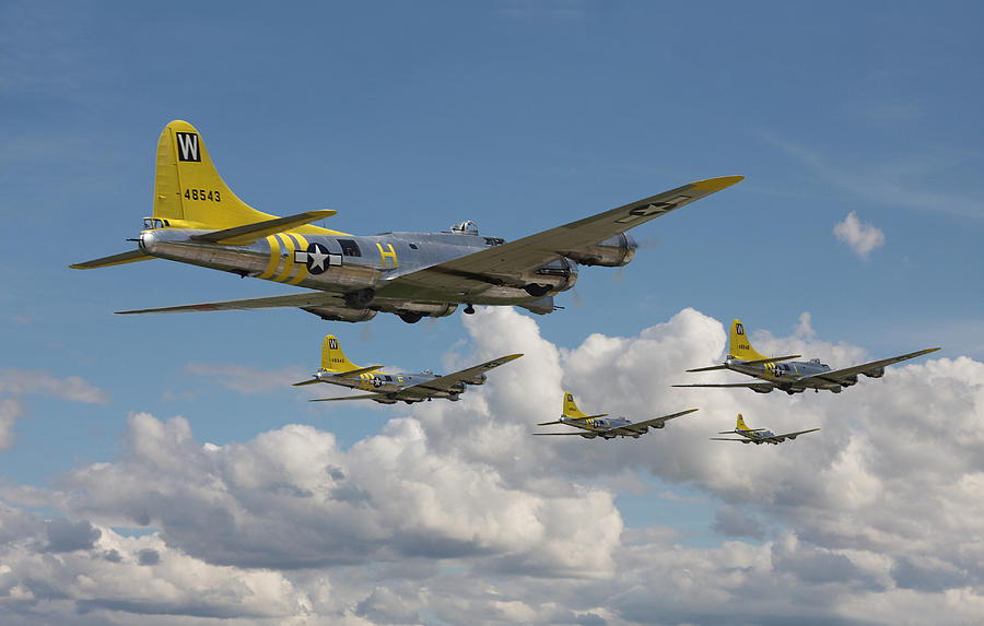 Aircraft Digital Art - Aluminium Overcast by Pat Speirs