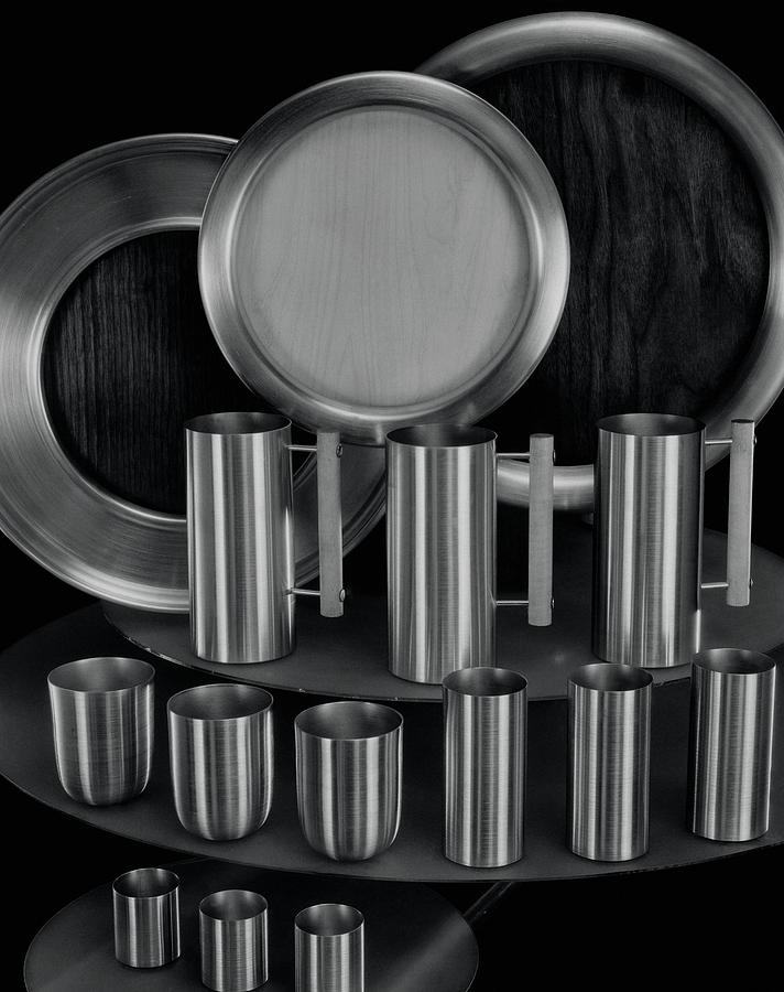 Aluminum Tableware Photograph by Martinus Andersen