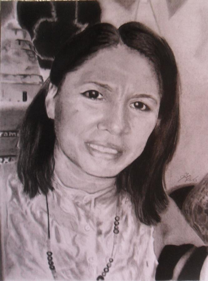 Alvita Batres Drawing by Luis Carlos A