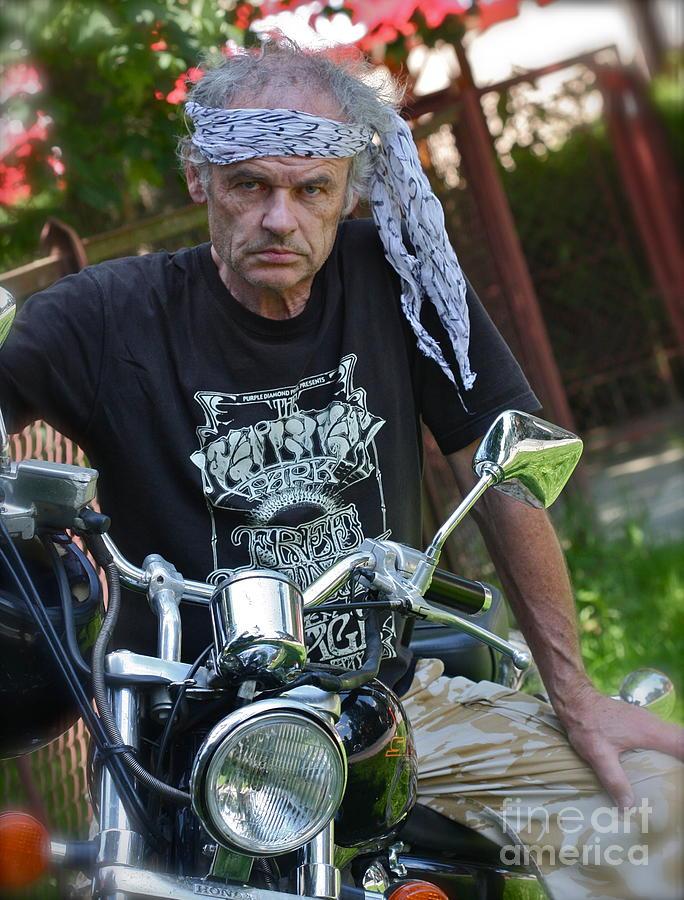 Portrait Photograph - Always free like a wind -  Easy Dream Rider. by  Andrzej Goszcz