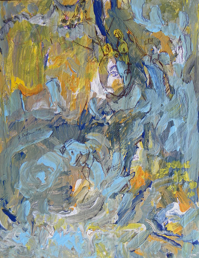 Expressive Painting - Always In The Wind by Judith Redman