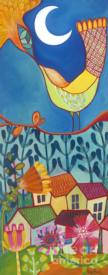 Moon Painting - Always Kiss Me Good Night by Carla Bank