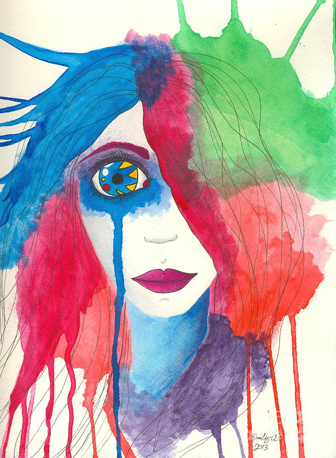Clown Painting - Always The Clown by Emily Alexander