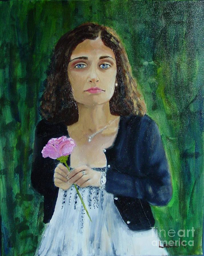 Portrait Painting - Aly by Laurie Morgan