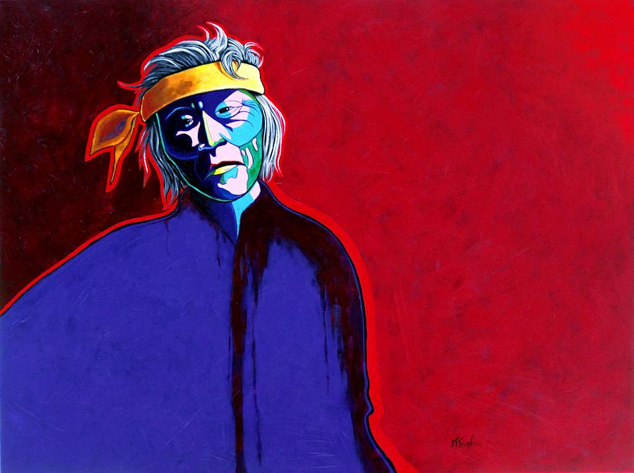 Native American Indian Painting - Am I So Different by Joe  Triano