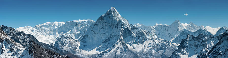 Ama Dablam 6812m Iconic Himalaya Photograph by Fotovoyager