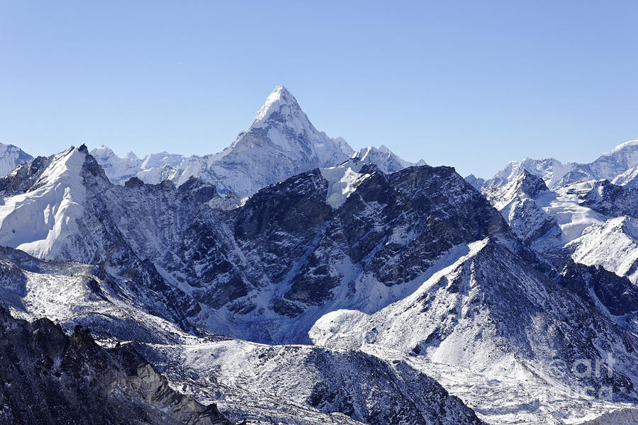 Ama Dablam Photograph - Ama Dablam Mountain Seen From The Summit Of Kala Pathar In The Everest Region Of Nepal by Robert Preston