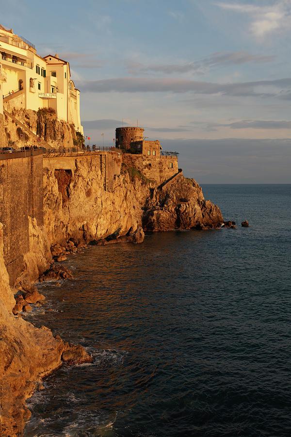 Amalfi Coast At Sunset Photograph by Massimo Pizzotti