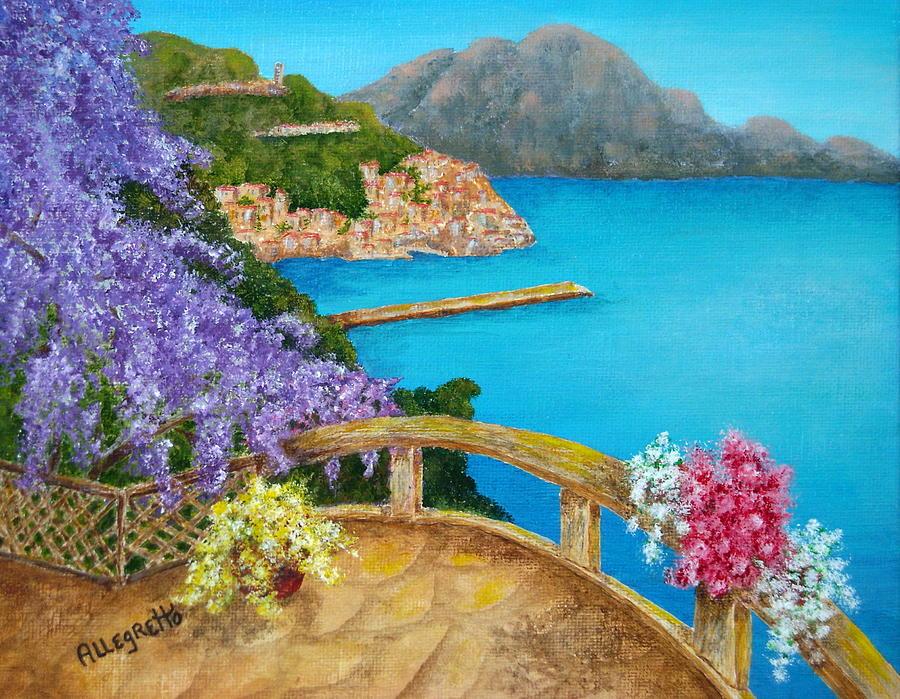 Acrylic Painting Painting - Amalfi Coast by Pamela Allegretto