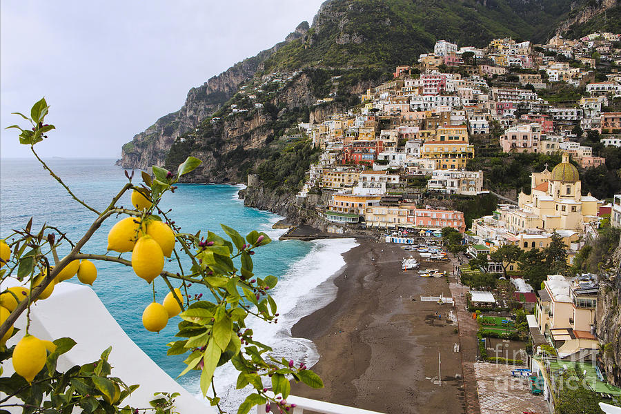 Positano Photograph - Amalfi Coast Town by George Oze