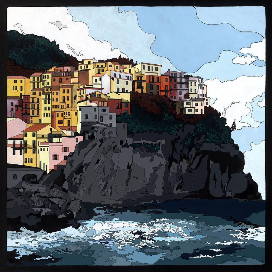 Manarola w/hidden pictures by Konni Jensen