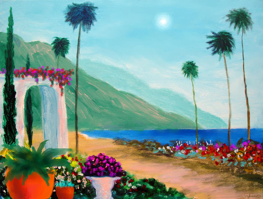 Flowers Painting - Amalfi Colors by Larry Cirigliano